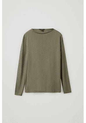 TOP WITH ROLLED EDGES