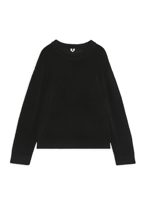 Relaxed Crewneck Jumper - Black