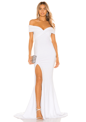 Nookie Neptune Gown in White. Size M,S,XS.