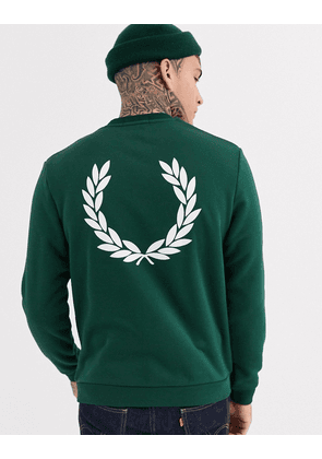 Fred Perry back logo sweat in green