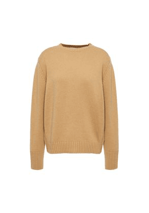 Re/done Wool And Cashmere-blend Sweater Woman Sand Size M