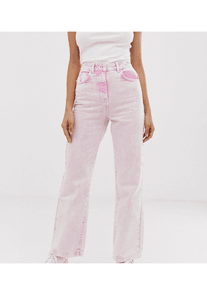 COLLUSION Tall x005 straight leg jeans in acid wash pink