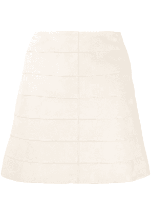 Theory leather mini skirt - NEUTRALS