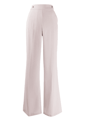 Pinko button-waist flared trousers