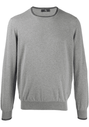 Fay regular-fit crew-neck pullover - Grey