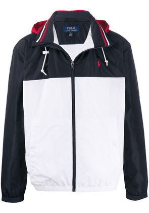 Polo Ralph Lauren panelled logo jacket - White