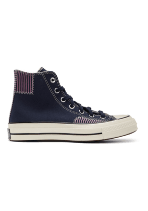 Converse Navy Nautical Prep Chuck 70 High Sneakers