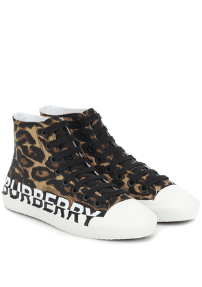 Larkhall logo high-top sneakers