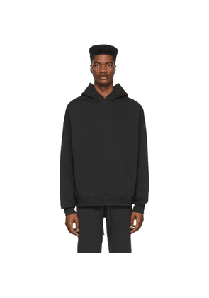 Essentials Black Reflective Pullover Hoodie