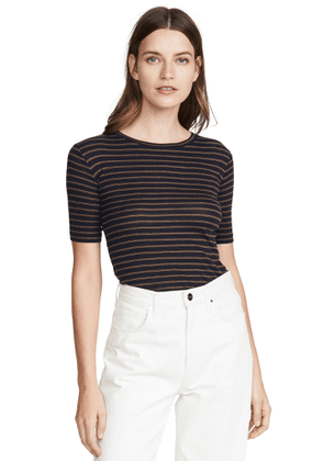 Vince Micro Double Striped Tee