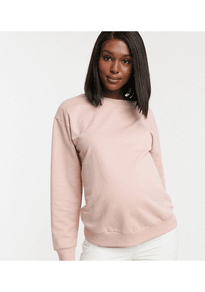 ASOS DESIGN Maternity ultimate organic cotton sweatshirt in pink