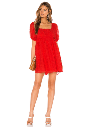 L'Academie The Rene Mini Dress in Red. Size XS.
