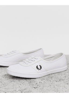 Fred Perry Aubrey leather trainers-White