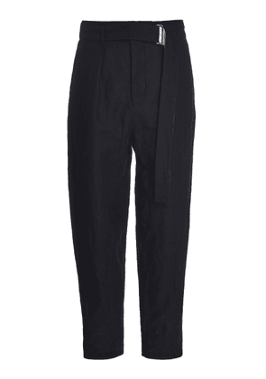 Rochas Pedro Belted Cropped Wool-Blend Pants