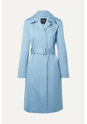 Theory - Cotton-twill Coat - Light blue