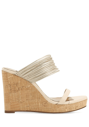 105mm Rendez Vous Leather Wedge Sandals