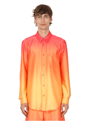 Gradient Printed Stretch Shirt