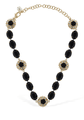 Black Roses Crystal Necklace