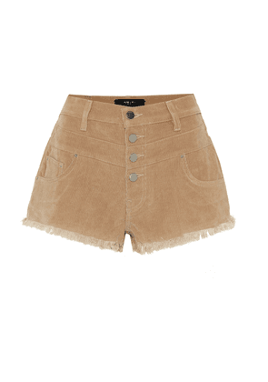 High-rise corduroy shorts