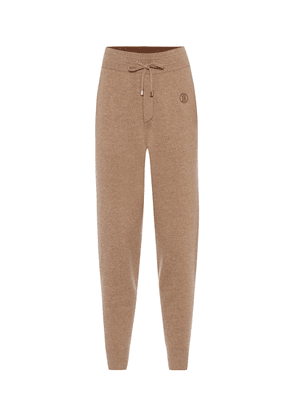 Stretch-cashmere trackpants