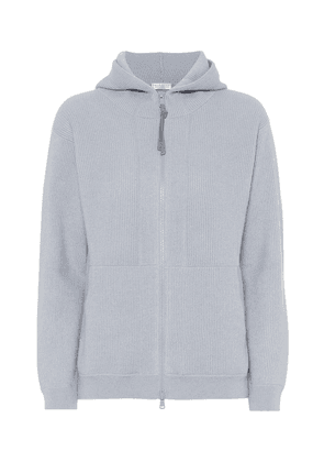 Ribbed-knit cashmere hoodie