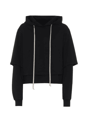 Cropped cotton hoodie
