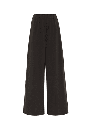 High-rise cotton-jersey wide pants
