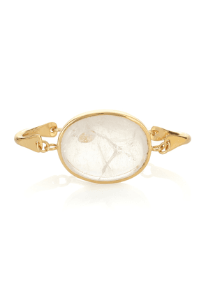 Theia 24kt yellow gold-plated bracelet with a rock crystal