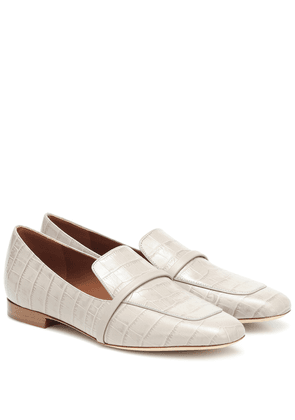 Jane croc-effect leather loafers