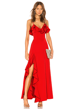 NBD Francine Gown in Red. Size M.