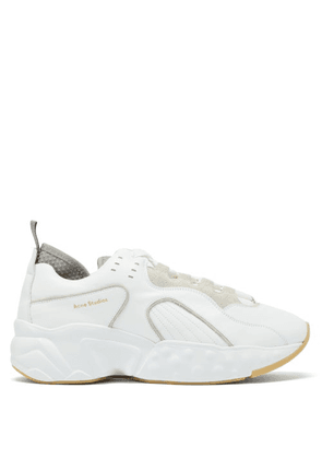 Acne Studios - Rockaway Low-top Leather Trainers - Mens - White
