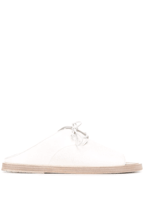 Marsèll lace-up flat sandals - White