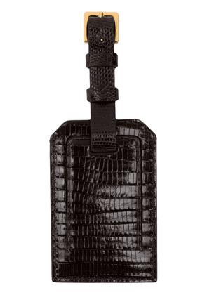 Tom Ford embossed leather luggage tag - Brown