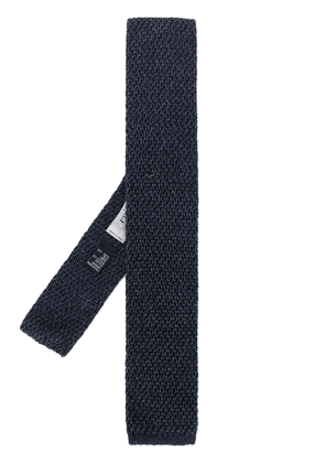 Canali adjustable knitted tie - Blue
