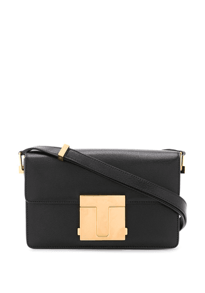 Tom Ford small shiny grained leather bag - Black