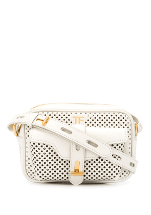 Tom Ford perforated crossbody bag - White