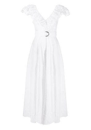 P.A.R.O.S.H. lace trim maxi dress - White