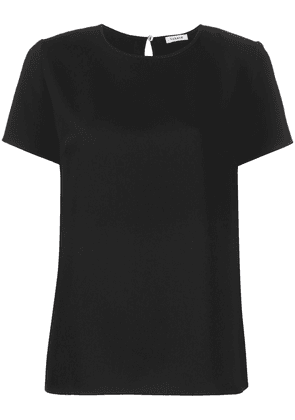 P.A.R.O.S.H. short sleeve key-hole detail top - Black