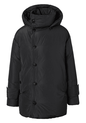 Burberry hooded padded down coat - Black