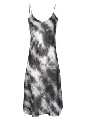 Nili Lotan slim fit tie-dye print silk dress - Grey