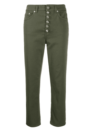 Dondup cropped cargo trousers - Green