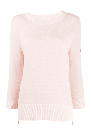 Barbour patch sleeve jumper - PINK