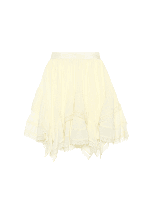 Hollace lace-trimmed cotton skirt