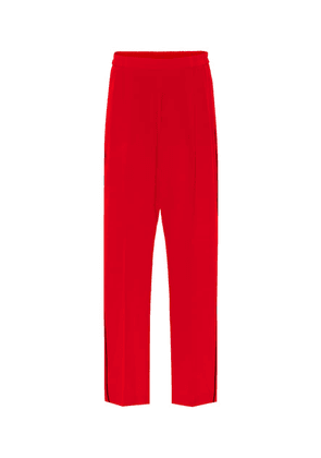 Cicely silk crêpe track pants