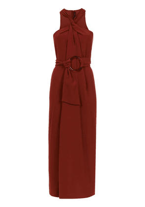 Andrea Marques knot midi dress - Red