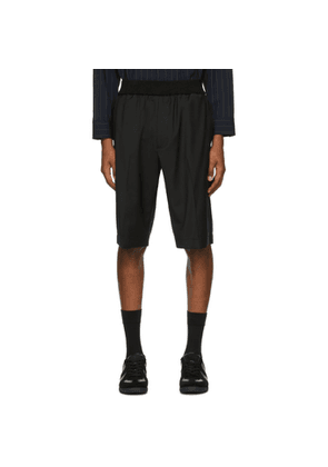 3.1 Phillip Lim Black Wool Tapered Shorts