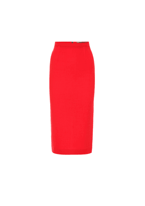 Arreton wool-crêpe pencil skirt