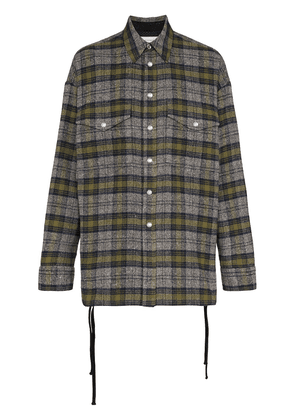 Faith Connexion checked cotton-blend overshirt - Black