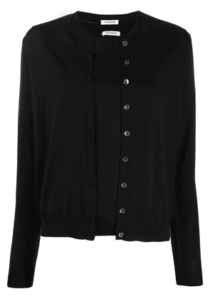 P.A.R.O.S.H. button-up crew neck cardigan set - Black
