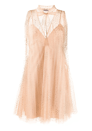 Red Valentino tulle point d'esprit dress - PINK